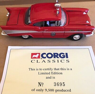 $29 • Buy CORGI Classics 1:50 Scale Chevy Fire Chief Car Pensacola (O Scale)
