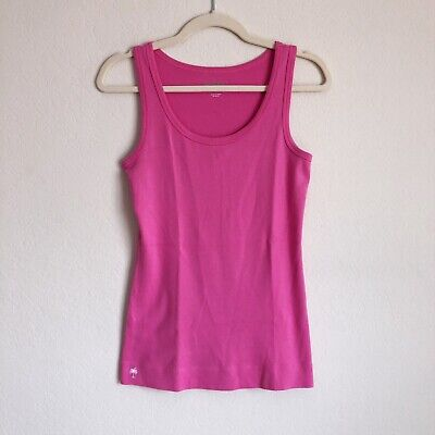 $25 • Buy Lilly Pulitzer Women's Pink Tank Top Size Medium Pima Cotton Fitted Sleeveless