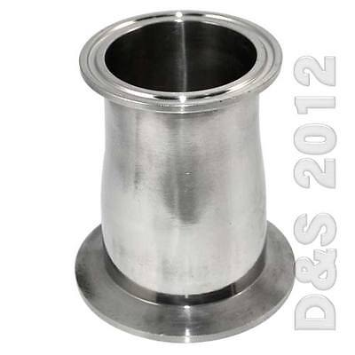 """AU31.99 • Buy 51MM To 102MM 2"""" To 4"""" Sanitary Ferrule Reducer Fitting SS316 To Tri Clamp Type"""
