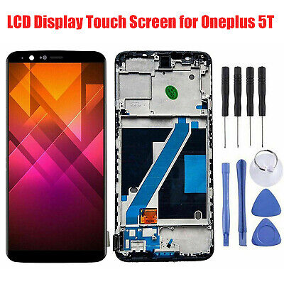 AU57.72 • Buy LCD Display Touch Screen Digitizer Assembly W/Frame For Oneplus 5T Accessories