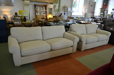John Lewis Sofa Beige Fabric Large 3 Seater Settee New • 995£