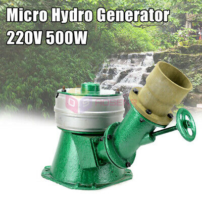 500W Micro Hydro Water Turbine Generator Hydroelectric Magnet Full Copper Core • 249.99£