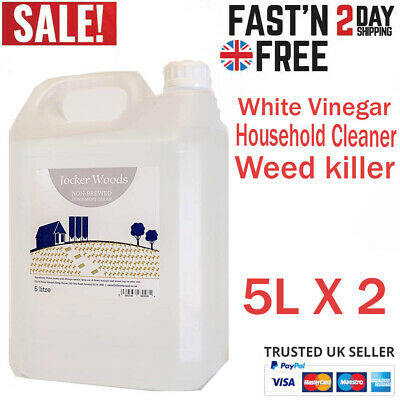 £16.99 • Buy White Vinegar For Household Cleaning, Weed Killing & Cooking 2 X 5L