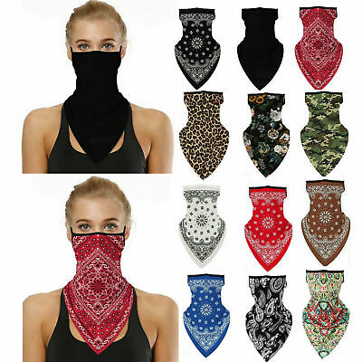 $10.86 • Buy Unisex Bandana Fabric Face Covering Mask Washable Balaclava Earloops Scarf Lot