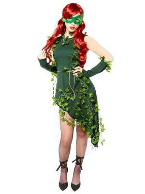 £19.99 • Buy Ladies Fancy Dress Outfit  Plant  Villain Poison Ivy Costume Small 8-10