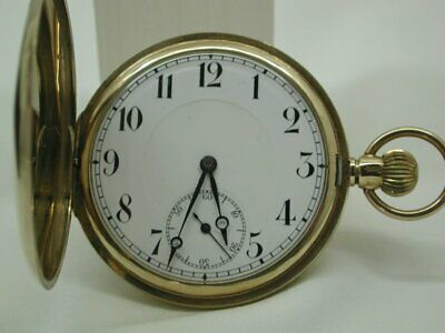 1920's Antique Solid 9 Carat Gold Full Hunting Cased Pocket Watch • 965£