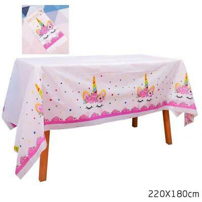 AU6.99 • Buy Unicorn Tablecloth Table Cover Party Supplies Table Decoration