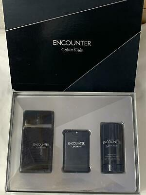 £69.99 • Buy Calvin Klein Encounter Gift Set - EDT Spray 100ml, EDT Spray 20ml, 75g Deodorant