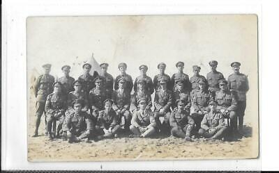 WW1 Photographic Postcard Large Group Of British Soldiers In Uniform At Camp • 4£