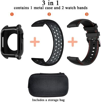 $ CDN66.90 • Buy Apple Watch Series 5/4 Rugged Protective Case Band 44mm Sport New Cover Strap