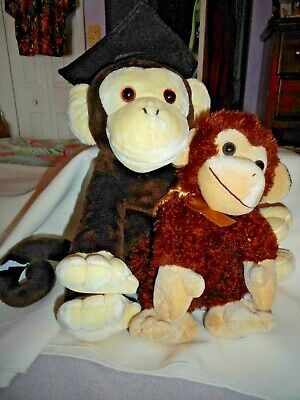 $ CDN16.92 • Buy Plush Shining Stars Adorable Monkey And Monkey W Graduation Cap Fr Target Home