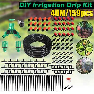 40M Micro Drip Irrigation System Set Automatic Watering Garden Hose Watering Kit • 12.35£
