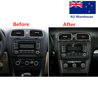 AU29.39 • Buy For VW Golf6 Gti R MK6 08-12 Vehicle Air Conditioning Panel Carbon Fiber Sticker
