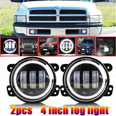 $45.07 • Buy 4inch Round 60W LED Fog Lights Front Bumper For 94-01 Dodge RAM 1500 2500 3500