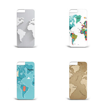 Hard Plastic Phone Case World Map Poster Asia EUROPE L93 For All Models • 6.29£