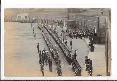 WW1 Photographic Postcard British Soldiers In Uniform On Parade • 3£