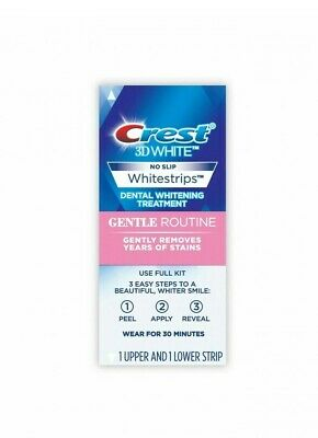 AU24.25 • Buy Crest 3D Gentle Routine Teeth Whitening Whitestrips Dental Oral Strips