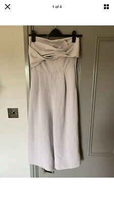 Topshop Jumpsuit Playsuit Cullotte Bandeau Size 10 Formal • 2.50£