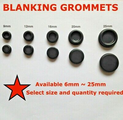 Blanking Grommets Rubber Grommet Closed Grommet Blind Plug Bung Bungs - All Size • 6.50£