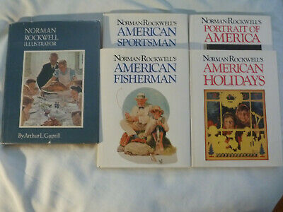 $ CDN16.31 • Buy FIVE (5) NORMAN ROCKWELL Large Hardbacks: 4 On His Work; 1 About Rockwell