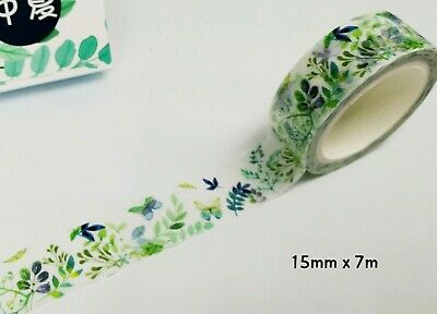 AU2.70 • Buy Japan Washi Tape Butterfly And Green Leaf 15mm X 7m MT4283