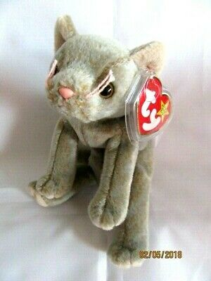 £5.99 • Buy  Ty Beanie Baby - Scat - Grey Cat  - Mint - Retired With Tags