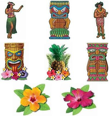 Hawaiian Luau Cutout Set Party Decorating Accessory • 2.99£