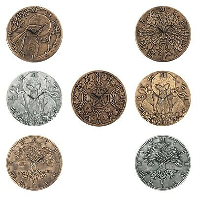 Lisa Parker Terracotta Wall Clock Moon Shadow Hare Tree Of Life Bronze Or Silver • 15.20£
