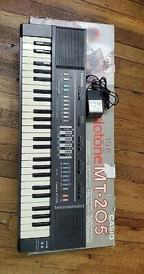 $25 • Buy Casio Casiotone MT-205 Keyboard Electronic 80s In Box Tested Working Vintage