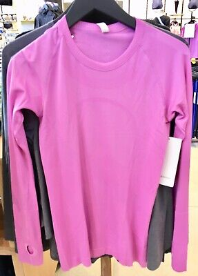 $ CDN139.99 • Buy Lululemon Swiftly Tech Long Sleeve Magenta Glow 6 Or  12
