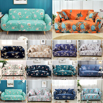 AU38.88 • Buy 1 2 3 4 Seater Floral Leaf Elastic Soft Sofa Couch Covers Slipcover Protector