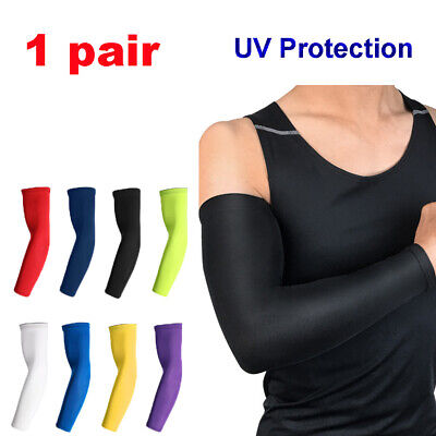 Arm Sleeves Elbow Pad Fitness Guards Uv Protection Running Sports Cycling. • 5.75£