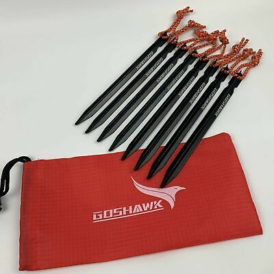 AU8.79 • Buy 8Pcs 18cm Aluminum Alloy Outdoor Camping Trip Tent Peg Ground Nail Stakes Tri