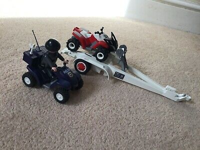 Playmobil Police & Quad Bike & Trailer • 5£