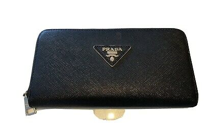 Prada Black Leather Long Purse/ Wallet. Low Starting • 4.20£