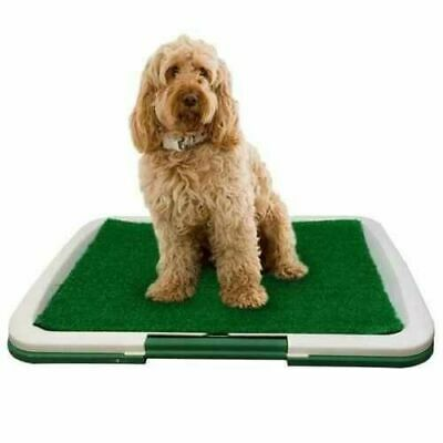 £10.99 • Buy PET Dog Toilet Mat Indoor Training Grass Potty Pad Tray Large Puppy