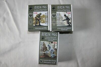 Job Lot 3x Toro Models Berlin 1945 1st Army Of Polish Forces 1/35 Resin Figures • 10£
