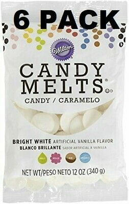 6Wilton Candy Melts Vanilla Flavored 12oz Ea Bright White Candy Making Cake Pops • 16.45£