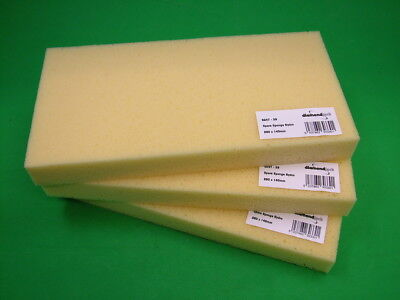 Pack Of 3 Spare Sponge Refills For Grout Float Washboy 28x14cm, Cut Into Blocks • 10.19£