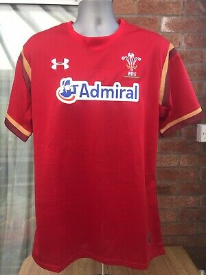 Mens Wales Rugby Union Shirt Under Armour Size XXL (2XL) • 4.99£