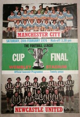 Manchester City V Newcastle Unied 1976 League Cup Final Programme 28/02/76 • 3.99£