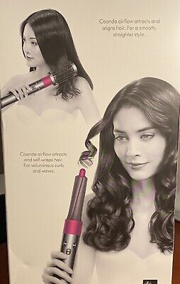 $425 • Buy NEW Dyson Airwrap Complete Styler For Multiple Hair Types - Silver/Fuchsia