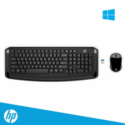 AU39.95 • Buy HP Wireless Keyboard And Mouse 300 Classic Desktop Combo Bundles Best Price