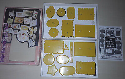 X17 Cake Decorating Jem Small Plaque Set No. 4 CUTTERS SCROLL PICTURE FRAME BOWS • 12.75£