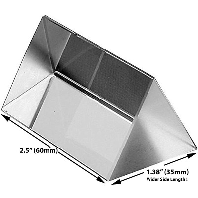$12.13 • Buy 2.5 Inch Optical Glass Triangular Prism For Teaching Light Spectrum Physics And