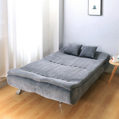 Soft Fabric Linen 3 Seater Sofa Bed Fabric Sofa Bed Couch Settee Living Room • 339.95£