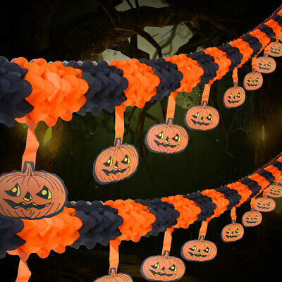 $3.66 • Buy 3M Halloween Pumpkin Banner Decoupage Holiday Party Decor Home Supplies Bunting