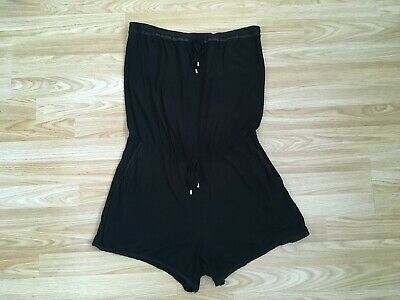 Next Black Jersey Bandeau Beachwear Playsuit UK 12 • 0.99£