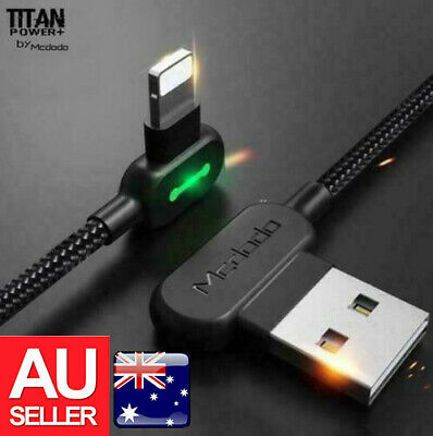 AU15.99 • Buy TITAN POWER Smart USB Charging Charger Data Cable 3.0 For IPhone 12 11 X Type-C