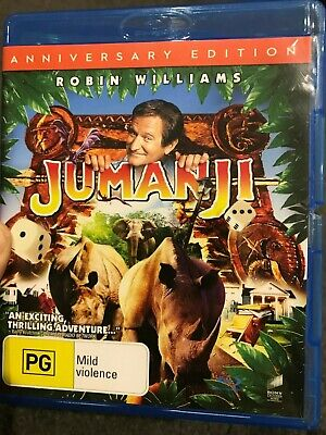 AU11.90 • Buy Jumanji Anniversary Edition BLU RAY (1995 Robin Williams Family Adventure Movie)